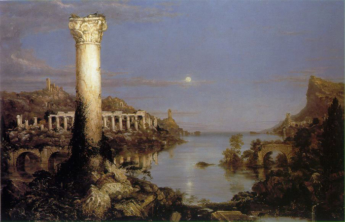 """'The Course of Empire: Desolation' by Thomas Cole"""