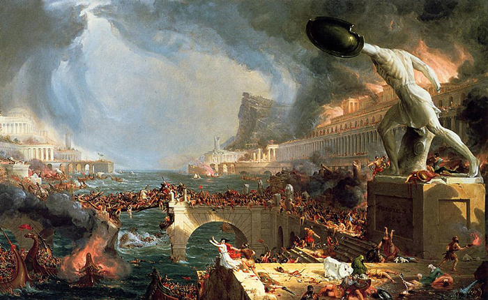 """'The Course of Empire: Destruction' by Thomas Cole"""