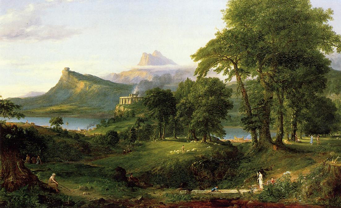 """'The Course of Empire: The Arcadian or Pastoral State' by Thomas Cole"""